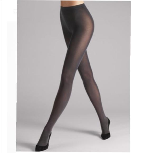 c37bff4f4ef NIB Wolford Velvet de Luxe 66 tights dark grey